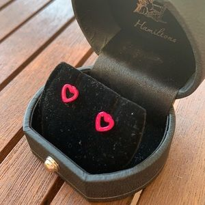 BRAND NEW Stunning Pink Hearts Earrings